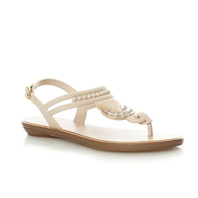 Tribal Thong - Nu pieds - beige