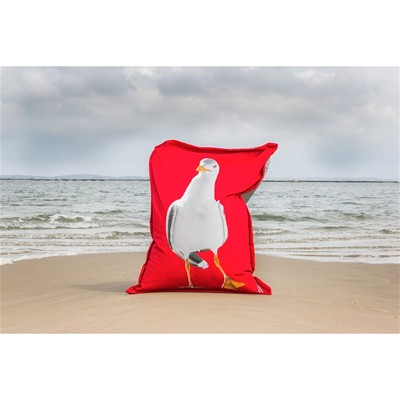 ARTPILO Dancing gull - Coussin 380 g/m² - rouge