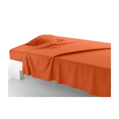 ANNE DE SOLÈNE Unis  épices - Drap plat - orange