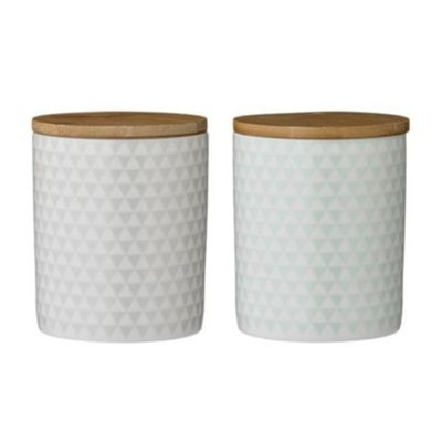 Olivia - Lot de 2 pots 10x12.3cm - multicolore