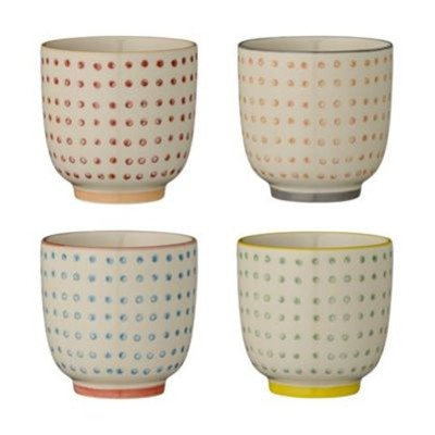Carla - Lot de 4 tasses 7x7cm - multicolore