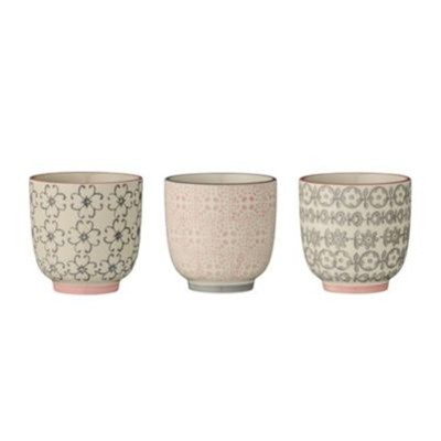 BLOOMINGVILLE Cécile - Lot de 3 tasses 7x7cm - multicolore