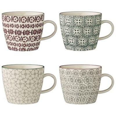 BLOOMINGVILLE Karine - Lot de 4 mugs 9.5x8cm - multicolore