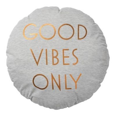 Good Vibes Only - Coussin 45cm - doré