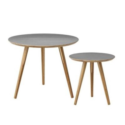 Set de 2 tables d'appoint - gris