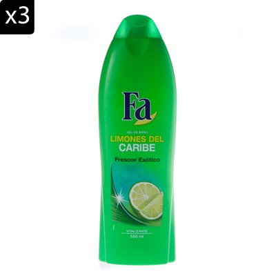 FA Citron - Lot de 3 gels douche - 500 ml