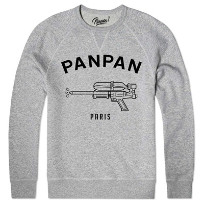 PANPAN PARIS water pistol - Sweat shirt coton bio - gris chine