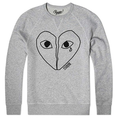 PANPAN PARIS heartbroken - Sweat shirt coton bio - gris chine