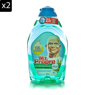 MR PROPRE Lot de 2 gels nettoyants multi-usage - 600 ml