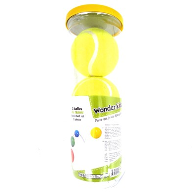 WONDERKIDS Tube de 3 balles de tennis - multicolore