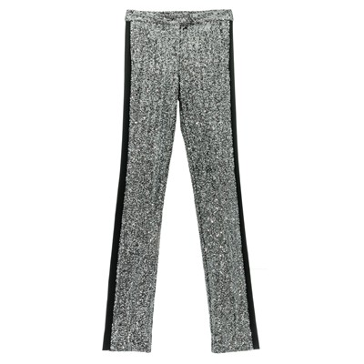 Pantalon de smoking paillettes - noir