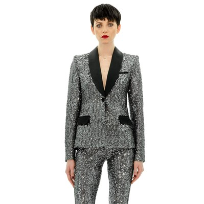 Veste de smoking paillettes - noir