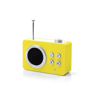 Mini dolmen radio - High Tech - jaune