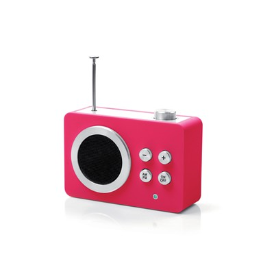 Mini dolmen radio - High Tech - rose