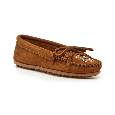 Mocassins en velours - marron