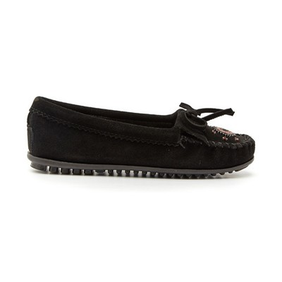 Mocassins en velours - noir
