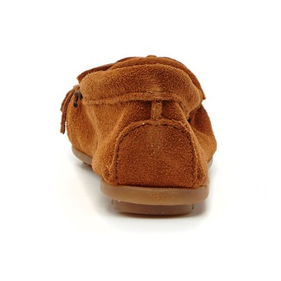 MINNETONKA Mocassins en velours - marron