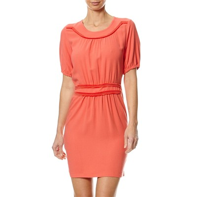 Equitable - Robe fluide - corail