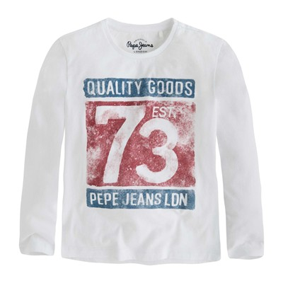 PEPE JEANS LONDON TOBIAS - T-shirt - blanc