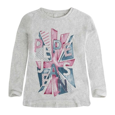PEPE JEANS LONDON CECILIA - T-shirt - gris chine