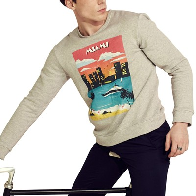 CAVALIER BLEU Sweat polaire - gris