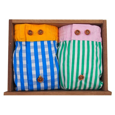 DAGOBEAR Lot de 2 caleçons - multicolore
