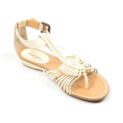 zapatillas Nine West Anaconda Sandalias de cuero blanco