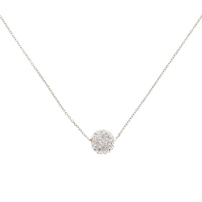 Bubble blanc - Collier - argent 925 1.25gr et Swarovski Elements