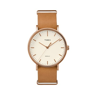 The Weekender Collection - Montre en cuir - marron clair