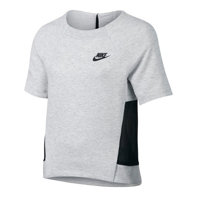 NIKE Tech Fleece - T-shirt - gris clair