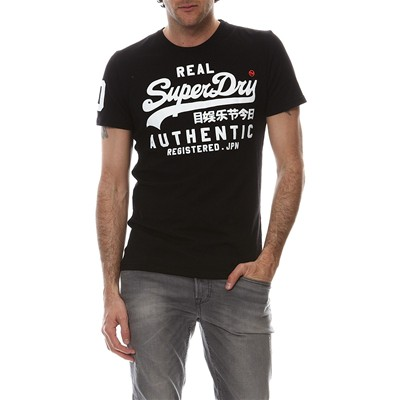 SUPERDRY Vintage Authetic Duo - T-shirt Label - noir