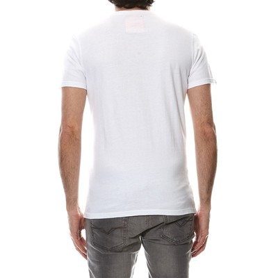 SUPERDRY T-shirt Label - blanc