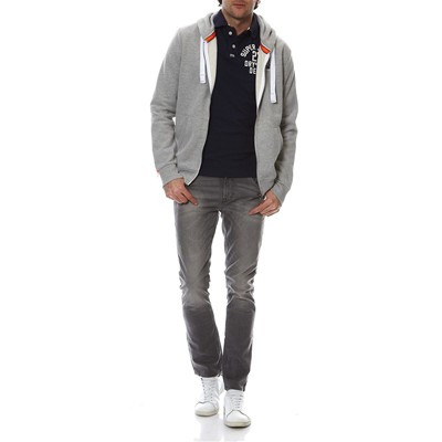 SUPERDRY Sweat à capuche - gris chine