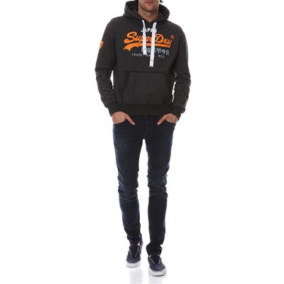 SUPERDRY Sweat à capuche - denim noir