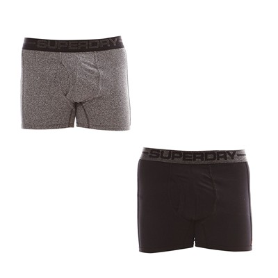 SUPERDRY Lot de 2 Boxers - noir