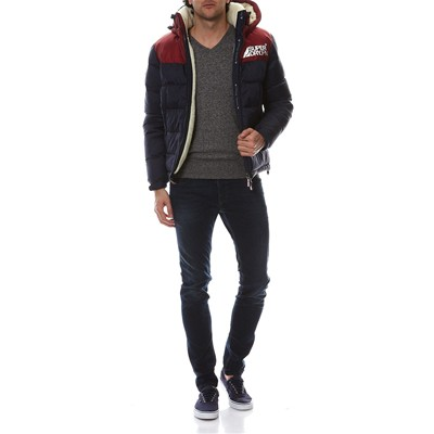 SUPERDRY Orange Label Vee - Pull - acier