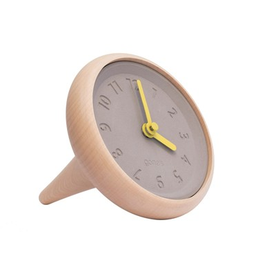 Gone's Toupie - horloge de table - jaune