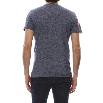 SUPERDRY Double Drop Grit - T-shirt - bleu