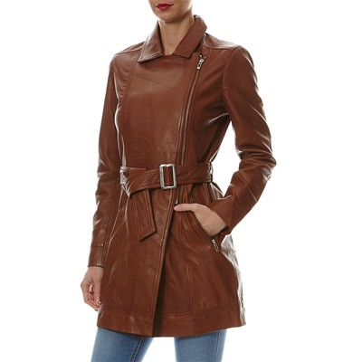 Cognac Cappotto Cuir Chyston Eleonor Cuir Chyston xEwIaPX