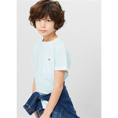 MANGO KIDS T-shirt manches courtes - turquoise
