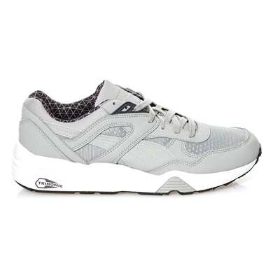 PUMA R698 LS PWRWARM - Baskets - gris clair