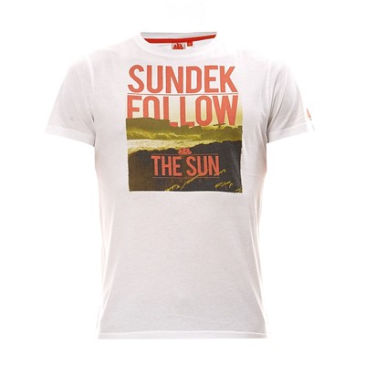 SUNDEK Follow the sun - T-shirt - blanc