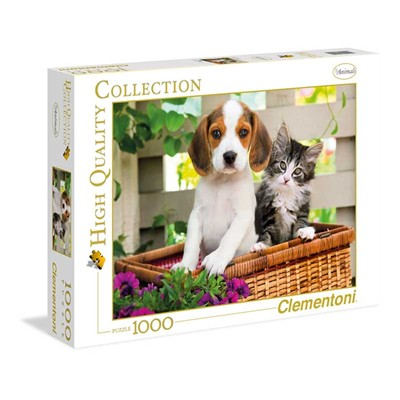 CLEMENTONI The dog and the cat - Puzzle 1000 pièces - multicolore