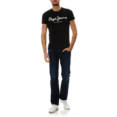 PEPE JEANS LONDON Original stretch - T-shirt col rond - noir
