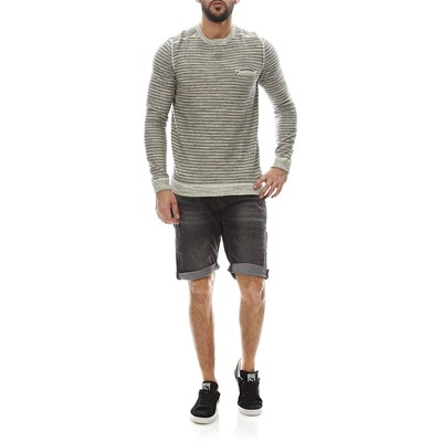 CALVIN KLEIN JEANS Sweat-shirt - gris chine