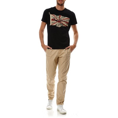 PEPE JEANS LONDON Flag Logo - T-Shirt - noir