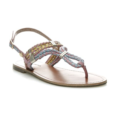 Jane woven - Nu pieds - rose