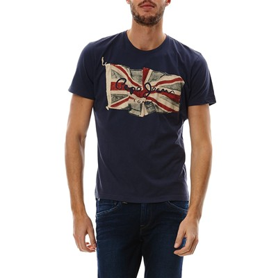 PEPE JEANS LONDON Flag Logo - Polo - bleu
