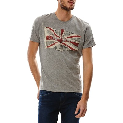 PEPE JEANS LONDON Flag Logo - T-shirt - gris chine