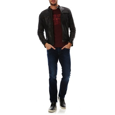 PEPE JEANS LONDON Paul - Veste en cuir - noir